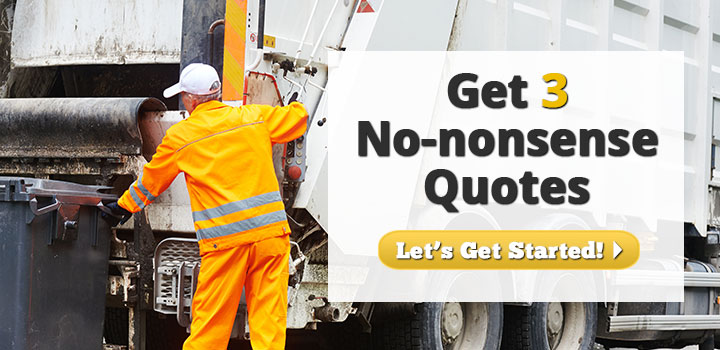 Get 3 No-Nonsense Waste Hauler Insurance Quotes